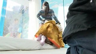 Horny Japanese whore Nozomi Wakui, Anna Momoi in Incredible Massage, Girlfriend JAV clip