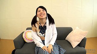Sweet Asian schoolgirl expresses her passion for hard meat
