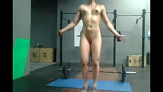 Home d20 - very fit girl naked sport makinng