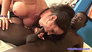 Sheila Stone And Pierre Dj - Threesome, One Guy Black, One White And