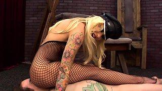 Busty mistress Helly Mae Hellfire face sitting