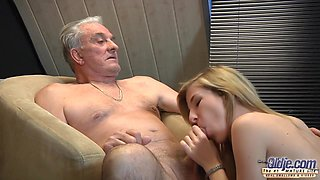 18 Years Old And Barbra Sweet In Senior Guy Fucks Attractive 18-year-old