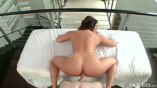 Jaw dropping milf Christiana Cinn takes a dick in her stretched butt hole
