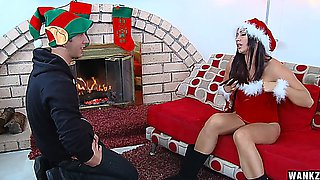 Horny Elf Fucks Brunette