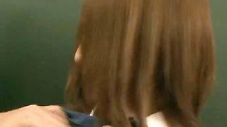 Busty naked in school Japanese schoolgirls striptease