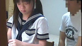Asian college girl involved into oral and pussy fuck