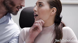 Hot Secretary Lets Married Boss Use Her- Bella Round