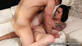 Crazy pornstars Seth Gamble, Nikki Hearts, Joanna Angel in Exotic Big Ass, Brunette xxx clip