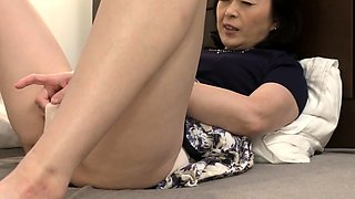 Small Tit Asian Plays With Pussy