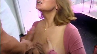 Busty Mature Slut Sucks Cock and Gets Facialized at Celebrity Porno Poker