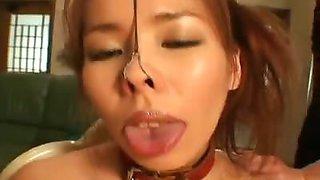 Fun with Metal Nose Hooks , Mistress Fuki places a metal