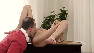 Old boss office and young garden xxx Stranger in a large pal
