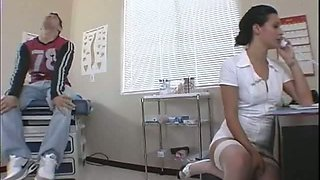 Sexy furiouse nurse treating her patient