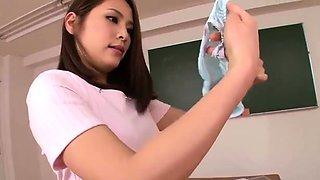 Japanese Cute Salor Uniform Girl Geting her Pussy Uncenserd