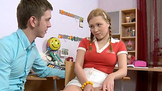Sultry young minx Laura gets tough experience