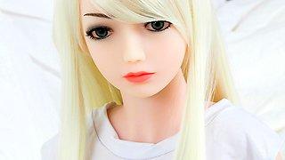 Anal Blonde Mini Love Doll teen with big boobs
