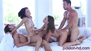 Passion-high Definition And Pool Party - Dillion Harper And Lily Love