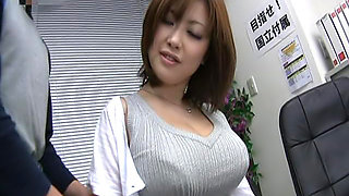 Naughty college teacher has a big set of tits