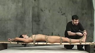 Wenona gets her nipples and clit pumped in BDSM scene