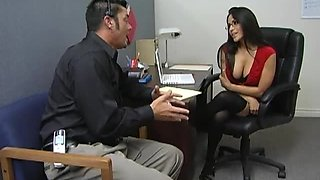 Sexy Secretary Gets A Wild Ride On A Big Cock In The Office