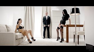 THE WHITE BOXXX - Threeway with Russian Sasha Rose