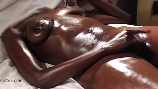 oiled and masturbates to an authentic orgasm