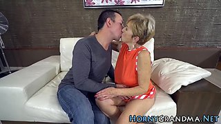 Granny makes out n rides