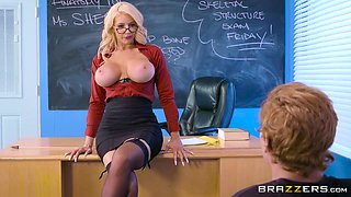 anatomy teacher's practical lessons to horny stud