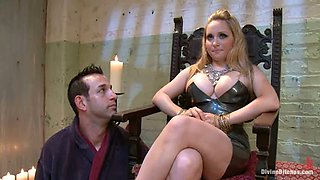 Aiden Starr Face Sits and Strapon Fucks Guy Before Fleshlight Games