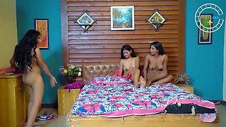 Desi Lesbian Threesome, First Time With Dirty Hindi Talk