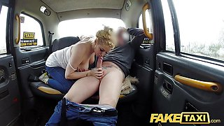 Fake Taxi Serious squirting from busty blonde amateur