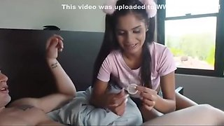 Sister caught during stealing stepbrother condom for her bf and punished