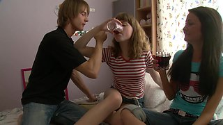 Really Amateur Video With Drunk Russian Schoolgirls