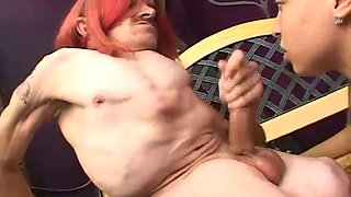 Beautiful girl blowjob ugly midget