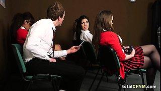 Teacher Strips Her Student