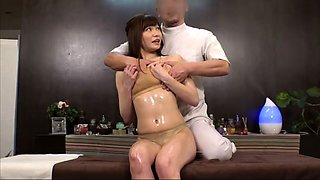 Beautiful Japanese babes massaged and fucked on hidden cam