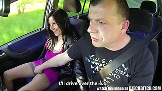 Horny stud fucks dumpy streetwalkers one by one in his car