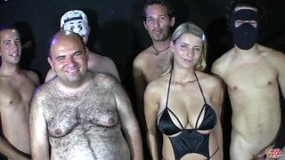 PutaLocura Stunning blonde with big tits bukkake