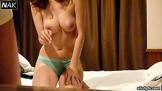 Horny Korean couple presents first homemade sex video