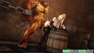 Naughty big boobs blonde hero getting trapped in hell and creampied as well by big cock