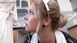 Kinky Maid Is Making Love With Her Lesbian Employer In The Kitchen, Because It Always Feels Good