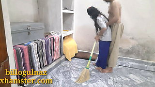 Indian maid has hard sex with boss