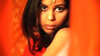 A Daring Indian Lady Dancing In A Seductive Way
