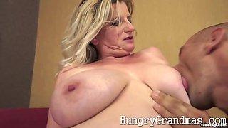 Chubby natural bigtit granny Emma