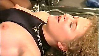 Voracious and hot brunette German girl having sex in the gym