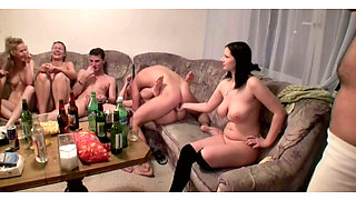 Hardcore  group sex orgy  with Kristene Dana and Janet Sonja