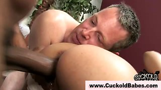 Cuckold watches hot bride get fucked
