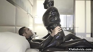 Hot pornstar latex and cumshot