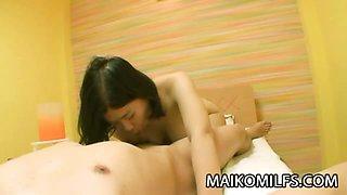 Japan MILF riding a hard cock