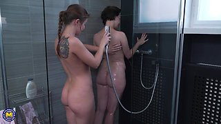 sensual sex in the shower